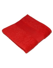 Classic Handtuch inklusive Namenstickerei (Paprika Red (Red))