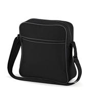 Retro Flight Bag (Black)