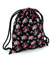 Graphic Drawstring Backpack (Faded Floral)
