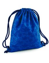 Graphic Drawstring Backpack (Indigo Palm)