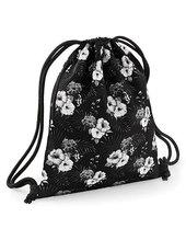 Graphic Drawstring Backpack (Mono Hawaiian)