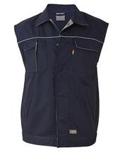 Contrast Work Vest (Deep Navy)