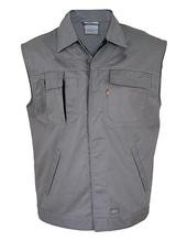 Contrast Work Vest (Grey)