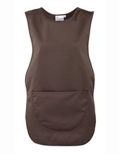 Womens Pocket Tabard (Brown (ca. Pantone 476))