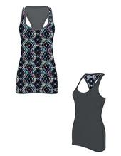 Women`s Reversible Workout Vest (Charcoal (Grey))