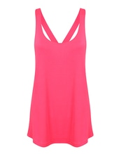 Women`s Fashion Workout Vest (Neon Pink)