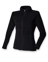 Ladies Microfleece Jacket (Black)