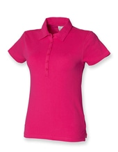 Ladies Short Sleeved Stretch Polo (Fuchsia)