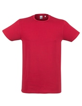 Mens Feel Good Stretch T (Heather Red)