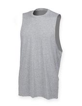 Mens High Neck Slash Armhole Vest (Heather Grey)