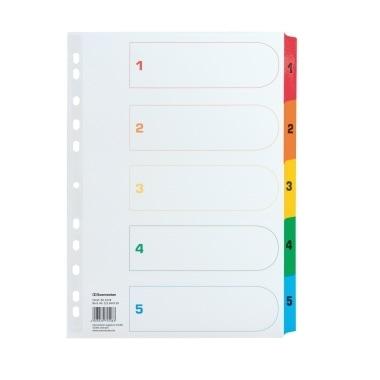 Soennecken Register 1578 DIN A4 1-5 volle Höhe Karton farbig
