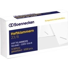 Soennecken Heftklammer 3143 23/6 verzinkt 1.000 St./Pack.
