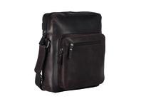 Leonard Heyden Reißverschlusstasche XS Dakota braun