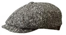 Stetson Donegal Wollkappe Schirmmütze Schurwolle grau