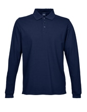 Luxury Stretch Long Sleeve Polo (Navy)