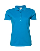 Ladies Luxury Stretch Polo (Azure)