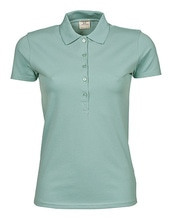 Ladies Luxury Stretch Polo (Dusty Green)