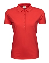 Ladies Luxury Stretch Polo (Coral)
