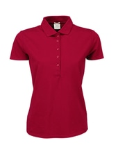 Ladies Luxury Stretch Polo (Deep Red)