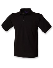 Men`s 65/35 Classic Piqué Polo Shirt (Black)