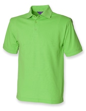 Men`s 65/35 Classic Piqué Polo Shirt (Bright Lime)