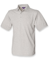 Men`s 65/35 Classic Piqué Polo Shirt (Heather Grey)