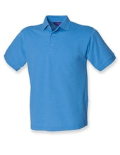Men`s 65/35 Classic Piqué Polo Shirt (Mid Blue)