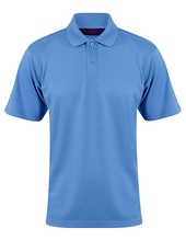 Men´s Coolplus Wicking Polo Shirt (Mid Blue)