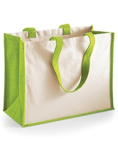 Printers Jute Classic Shopper (Apple Green)