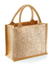 Shimmer Jute Mini Gift Bag (Natural Gold)