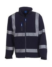 High Visibility 2 Bands & Braces Softshell Jacket (Navy)