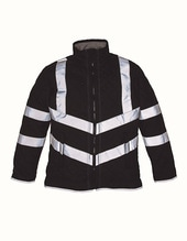 Hi Vis Kensington Jacket (with Fleece Lining) (Black)