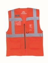 Hi Vis Top Cool Open Mesh Executive Waistcoat (Hi-Vis Orange)