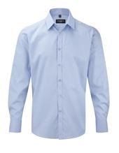 Men´s Long Sleeve Herringbone Shirt (Light Blue)