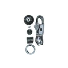 Lampenfassung E27, unmontiert, 180cm, Kabel, mit Zwischenschalter, schwarz