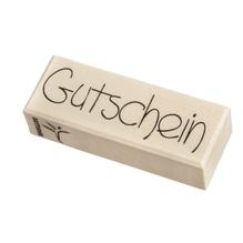 H.- Stempel Gutschein, 3x8cm, Art.18904