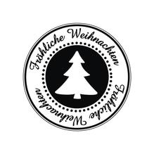 Stempel Fröhliche Weihnachten, 3cm ø