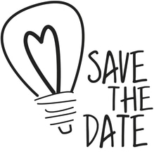 Stempel Save the Date, 5x5cm