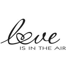 Stempel Love is in the air, 4x7cm