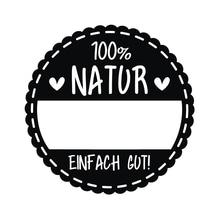 Stempel 100% Natur, 3cm ø