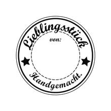 Stempel Lieblingsstück, 3cm ø