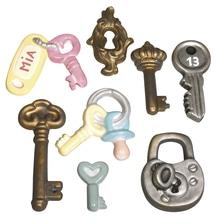 Gießform: Glücks-Schlüssel, 8 Motive, 3,5-7cm, Größe: 23,2x18,3cm
