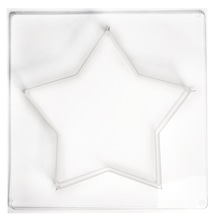 Gießform: Stern mittel, 21,5x21,5cm, Tiefe 4 cm