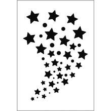 Paint-Me Schablone Sterne, 11,5x16,5cm, SB-Btl 1Stück