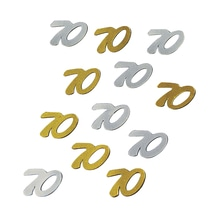 Jubiläums-Pailletten, SB-Btl. 12 g, gold/silber, 70