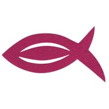 Filz Manschette für Servietten Fisch, 13,5x7,5x0,2cm, SB-Btl 6Stück, pink