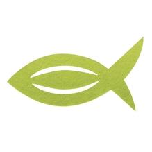 Filz Manschette für Servietten Fisch, 13,5x7,5x0,2cm, SB-Btl 6Stück, lindgrün