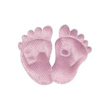 Stoff-Füße Baby, SB-Btl à 6 Stück, rosé