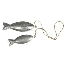 Metall Hänger Fische, 7,5+9,5cm, SB-Btl 2Stück
