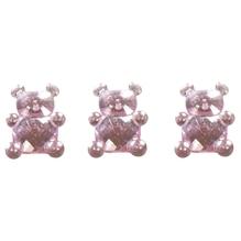 Acryl Teddybär, 1,1x1,5cm, SB-Btl 24Stück, babyrosa